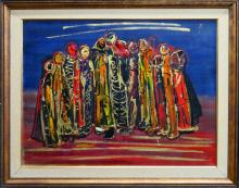BATA PROTIC (1922-1999) '62 OIL PAINTING ON CANVAS