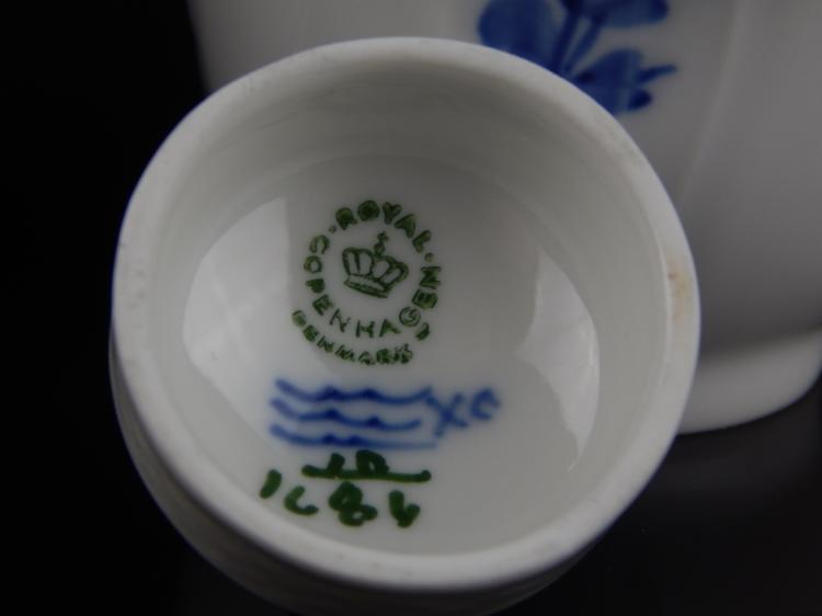 Royal Copenhagen Denmark Porcelain Lidded Urns