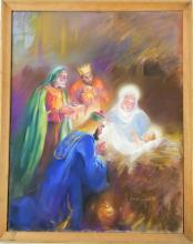 NANA BICKFORD ROLLINS THREE KINGS PASTEL WORK