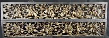 ANTIQUE CHINESE CARVED GILT WOOD TEMPLE CARVINGS