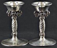 BERNICE GOODSPEED STERLING GRAPE CANDLE HOLDERS