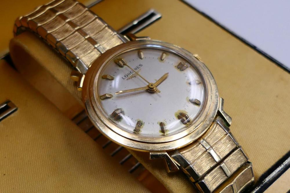 Wittnauer Watch Value >> Lot 339 Vintage Longines Wittnauer 14kt Gold Watch