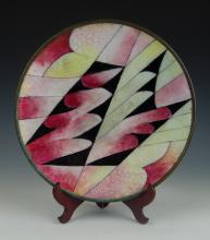 """CAMILLE FAURE (FRENCH 1874-1956) ENAMEL 8.75"""" BOWL"""