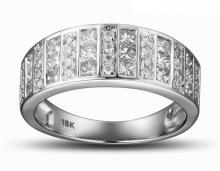 18k Solid White Gold 1.05ct Diamond Ring