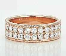 18k Solid Rose Gold 1.50ct Diamond Ring