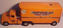 Vintage Pressed Steel Tonka Allied Van Lines Truck and Trailer