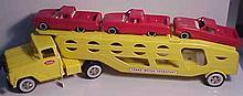 1950s Tonka Motor Transport with Vehicles (Restored)