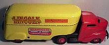 Pressed Steel Wyandotte Private Label Lincoln Transfer and Storage Company Moving Truck and Trailer (Restored)