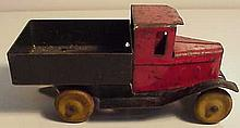 Early Wyandotte Delivery Truck with Wooden Wheels