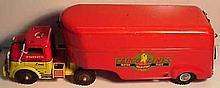 Vintage Pressed Steel Wyandotte Cargo Lines Truck and Trailer