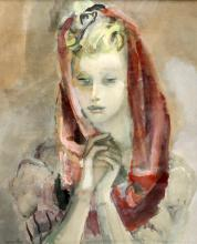 RAJMUND KANELBA (POLISH, 1897-1960), PORTRAIT OF A LADY, signed lower left,