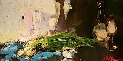 • Alina Maksimenko (B.1974) Sunney Wall Oil on