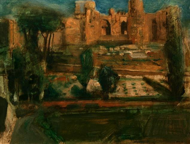 Noel Murphy The Forum, Rome Oil 35.6 x 45.7 cms