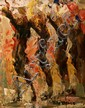 Vittorio Cirefice River Dance, Cork Oil on canvas