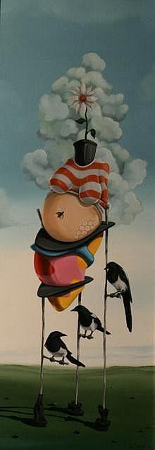 John McAtamney 3 For a Girl Oil on canvas 81.3 x