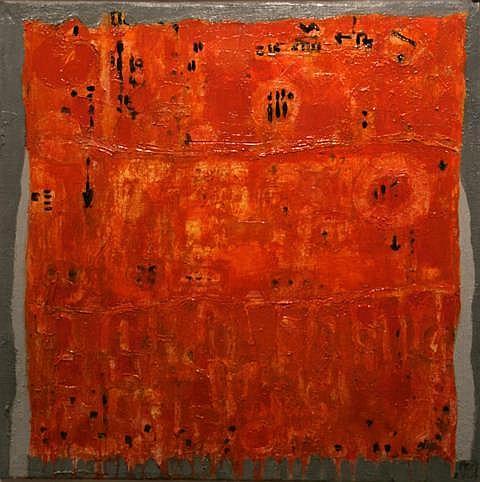 Tibor Cervenak (b.1977) Orange with Black Oil on