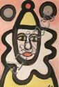 Markey Robinson (1918-1999) Juggler Mixed Media on