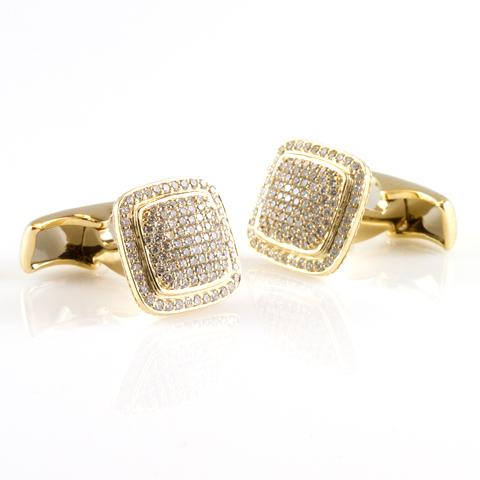 Encrusted cufflinks