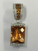 Diamond & Citrine Pendant