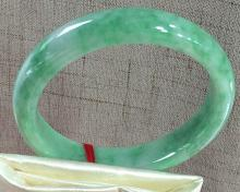 A NATURAL A-CLASS ROUND SHAPED SEED KIND JADEITE BRACELET