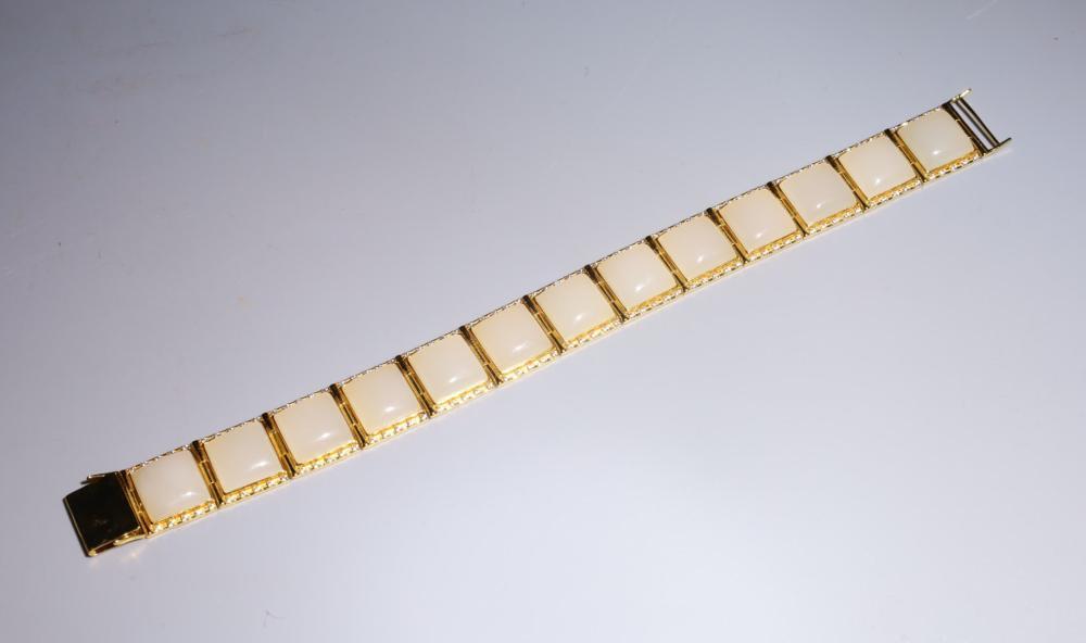 18K GOLD WITH HETIAN JADE BRACELET