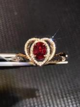 18K NATURAL PIGEON-BLOOD RUBY RING