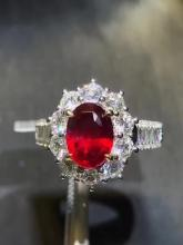 NATURAL PIGEON-BLOOD NO-HEATED RUBY RING