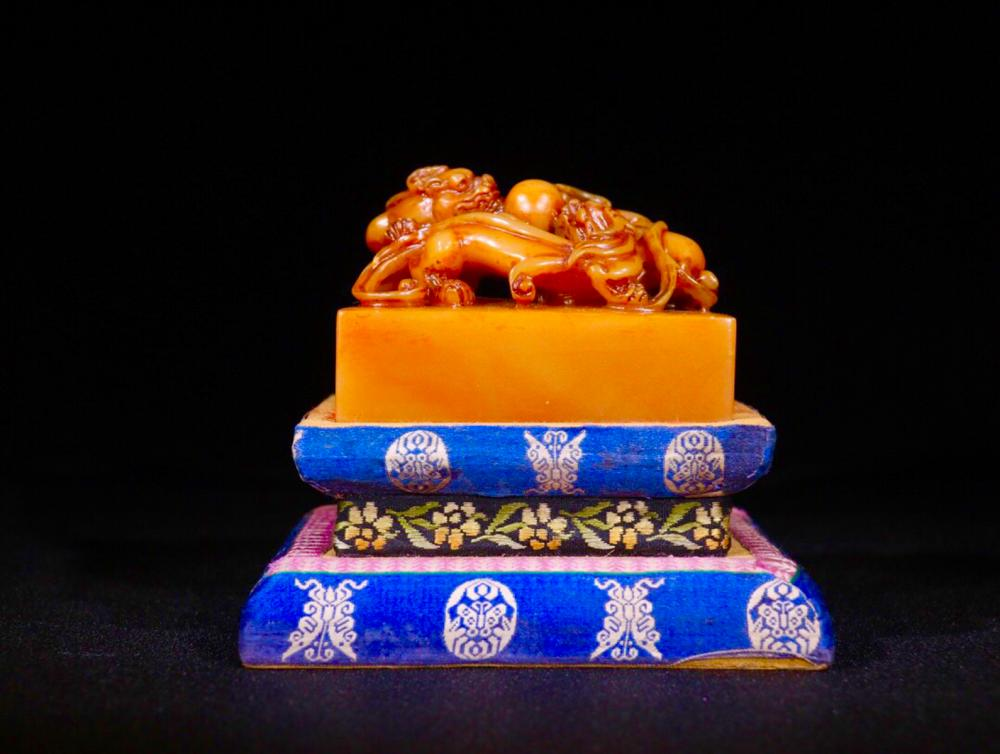 A TIANHUANG STONE SEAL OF DRAGON SHAPED