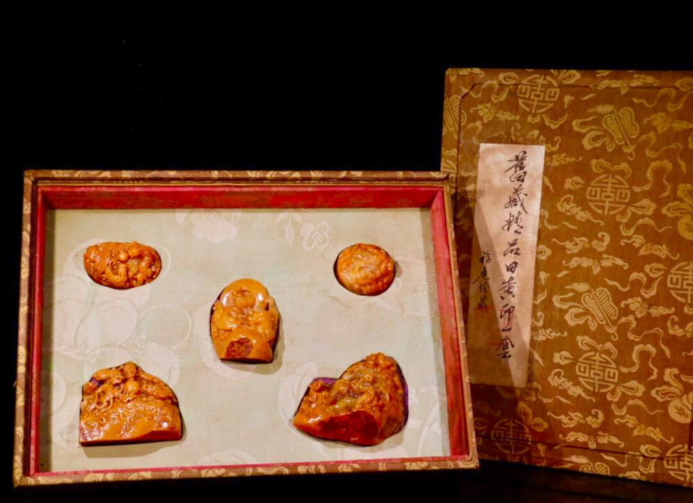 FIVE TIANHUANG STONE SEALS OF BEAST SHAPED