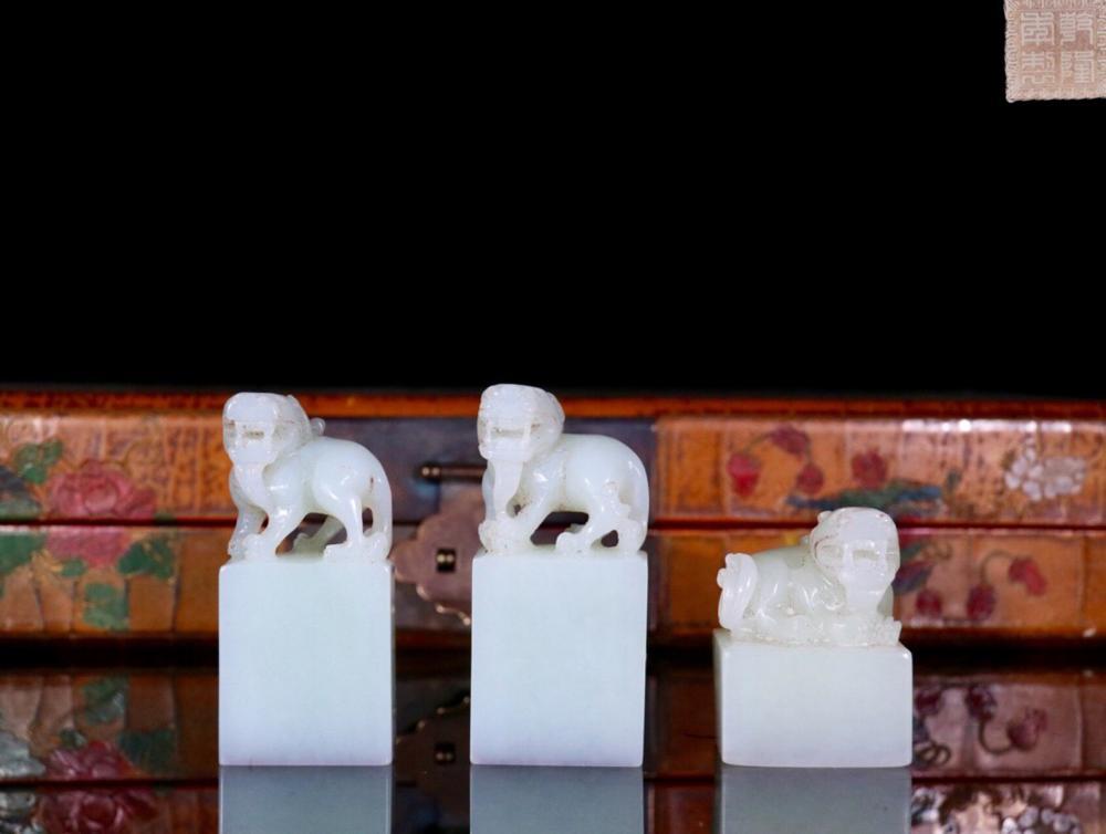 A SET OF HETIAN JADE FOUR TREASURES