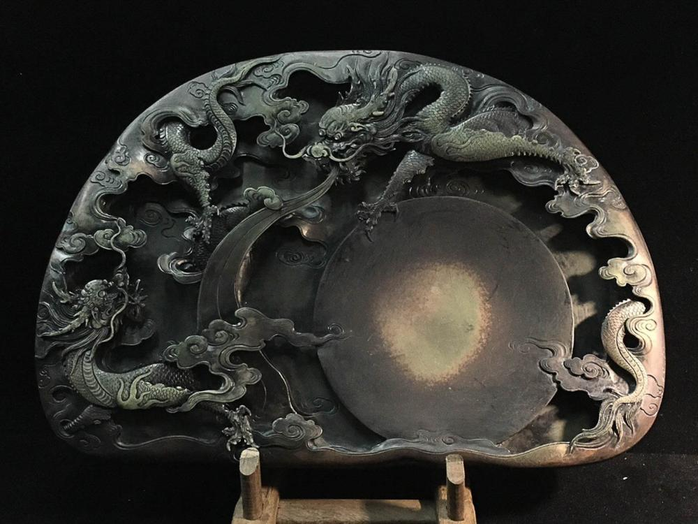 A DUAN STONE DRAGON  CARVED  INK SLAB