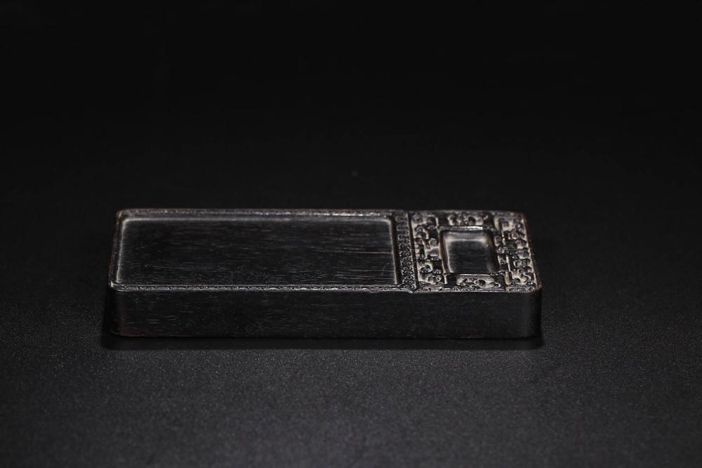 A ZITAN WOOD INK SLAB BY SHEN SHUYONG