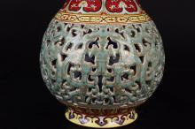 Lot 22: A QIANLONG MARK FAMILLE ROSE VASE