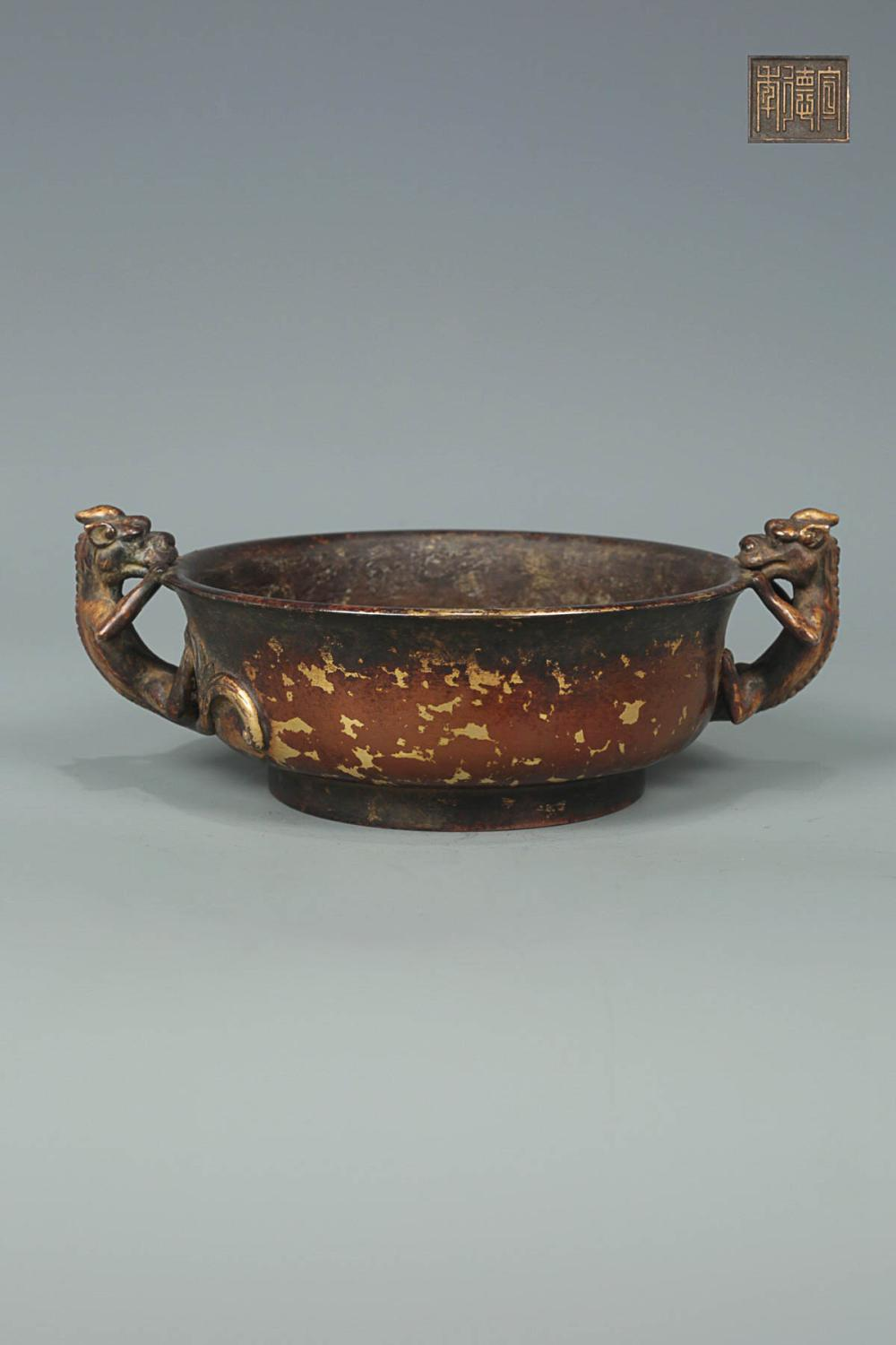 "A "" XUAN DE "" MARK BRONZE CENSER"