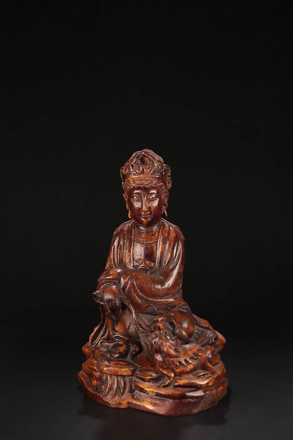 17-19TH CENTURY, A GUAN YIN DESIGN OLD BAMBOO ORNAMENT, QING DYNASTY