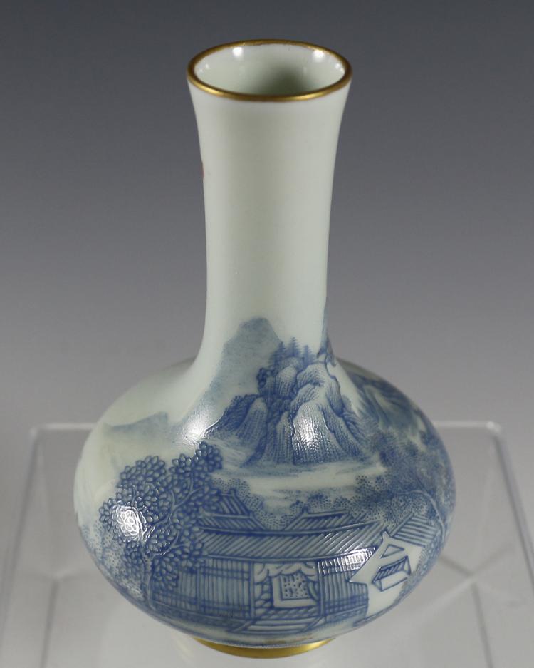DAQING YONGZHENG NIANZHI MARK BLUE u0026 WHITE VASE