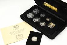 A SET OF 8 PIECES COMMEMORATIVE COINS