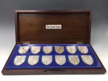 A SET OF 12 PIECES COMMEMORATIVE COINS
