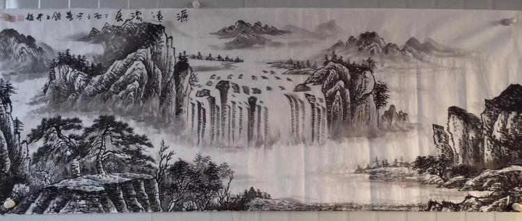 HE SHANLING INK PAINTING