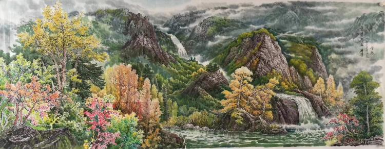 A PAINTING MADE BY NORTH KOREAN ARTIST