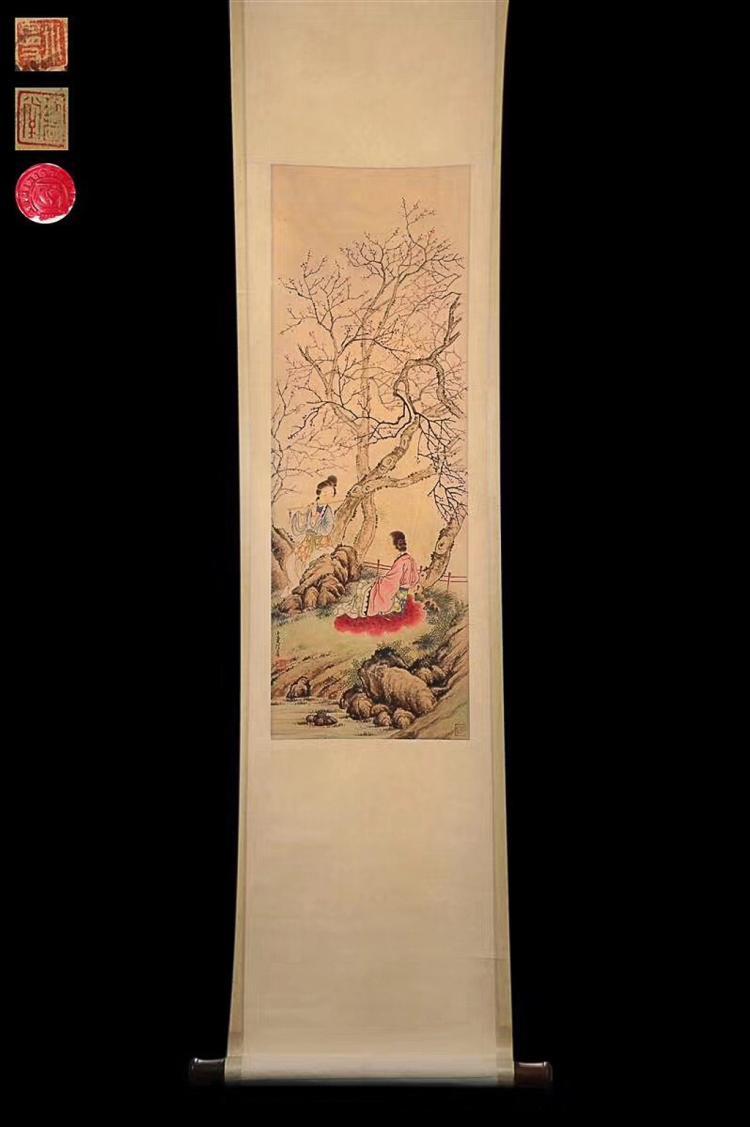 A MODERN PAINTER LU XIAOMAN'S PAINTING
