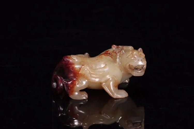 A HAN DYNASTY ANCIENT JADE COUNTERACT EVIL FORCE ANIMAL