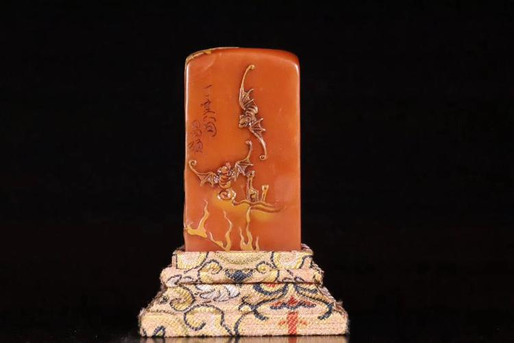 AN OPROMENT STAMP,QING DYNASTY