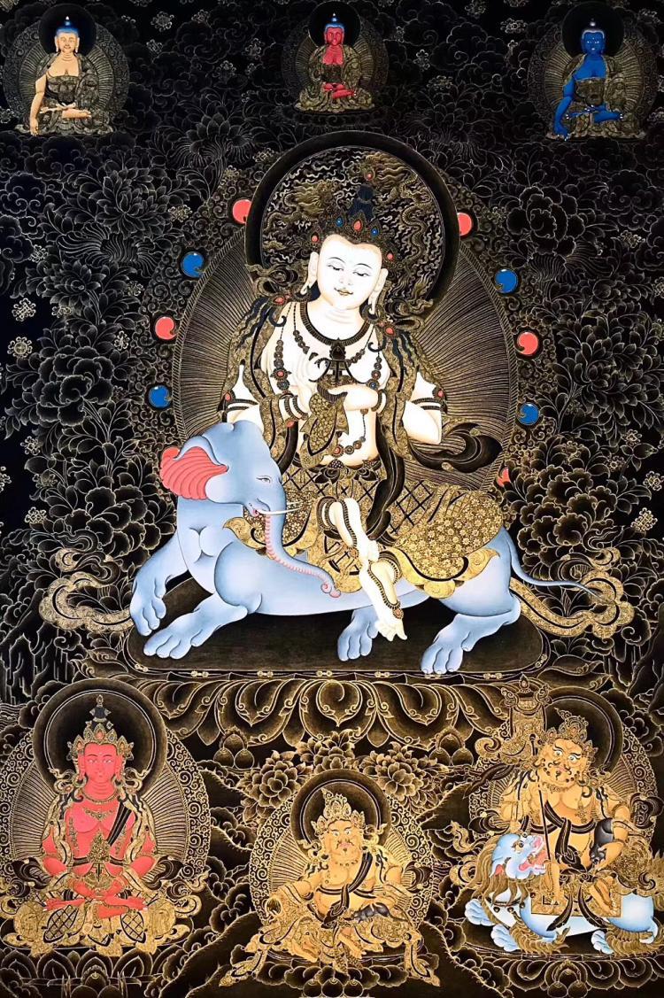 A TANGKA LEGENDARY PAINTER LAMA TASHI'S WORK