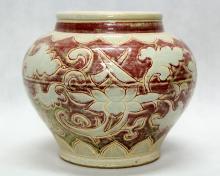 YUAN UNDERGLAZE-RED JAR