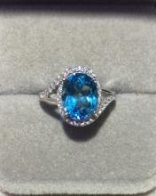 BLUE COLOR TOPAZ RING