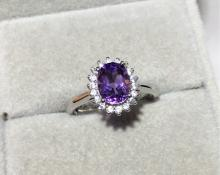 VIOLET CRYSTAL RING