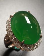EGG-SHAPED JADEITE RING