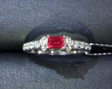 18K DIAMOND RUBY RING