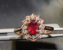 PIGEONS-BLOOD COLOR RUBY RING